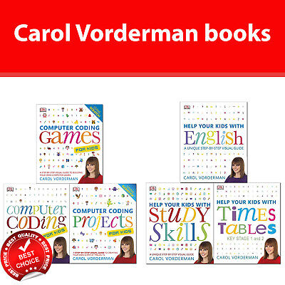 Carol Vorderman books collection set Computer Coding and Help Your Kids NEW