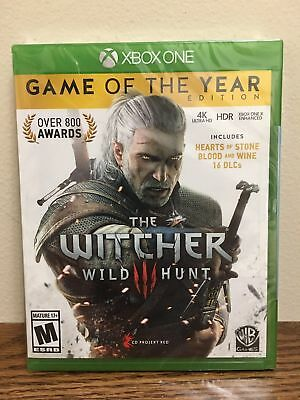 The Witcher III 3: Wild Hunt GAME OF THE YEAR EDITION XBOX ONE NEW  SEALED