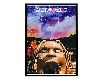 Travis Scott Astroworld Alt Poster Hypebeast Poster Hip Hop Music Wall Art