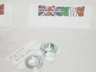 Vespa Nut and Washer for Engine Bolt - P/X,PE,T5,PXefl,PXdisc - New