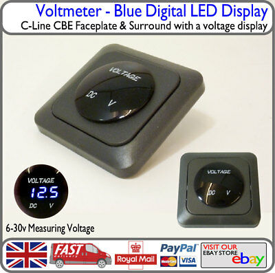 C-Line CBE Blue Voltmeter Voltage Display Elddis Burstner Autocruise Iveco Swift