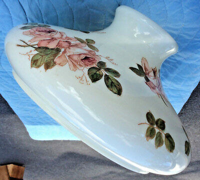 Bradley and Hubbard Glass Floral Lamp Shade; Marked B&H No 01144; c1880-90s; VGC