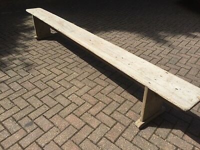 ANTIQUE 10ft PINE BENCH.