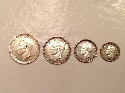 -1937 Great Britain George VI Coronation Issue Gem Proof Maundy Set- Sale Priced