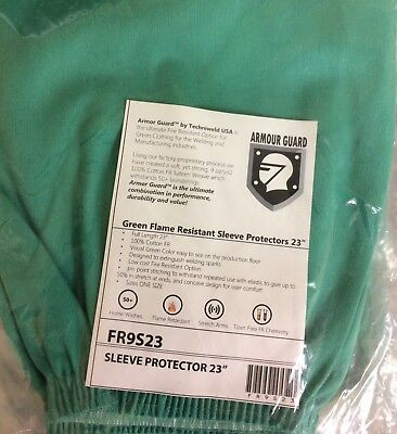 """Techniweld Armour Guard #FR9S23 Green Flame Resistant Sleeve Protector 23"""""""