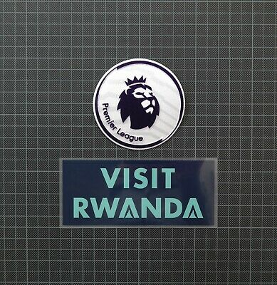 Premier League Patches/Badges 2018-2019 & VISIT RWANDA Arsenal 3rd Shirt