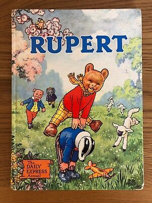 Rupert The Bear Annual 1958 - The Daily Express Book Hardback Vintage Rare