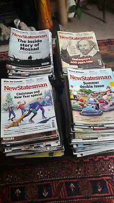 New Statesman magazine - massive job lot of issues from 2013 to 2018