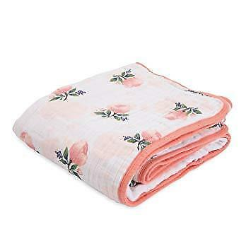 New Little Unicorn Cotton Muslin Quilt Water Color Rose 47 x 47