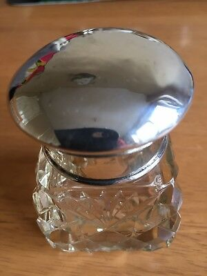 Pretty Silver Topped Perfume Bottle Complete With Original Stopper