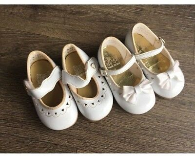 Vintage Lot of Baby Shoes Infant Toddler Girl Crib Shoe 1980s Size 2W 3W