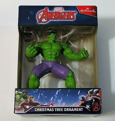 Hallmark 2016 Marvel Avengers Incredible Hulk Ornament Blue Box