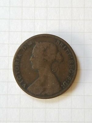 1861 New Brunswick One Cent Canada Coin