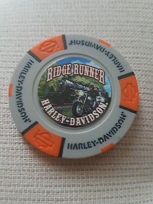 "Neues Logo""1 originaler Harley Davidson Pokerchips "" CHATTANOOGA TENNESSEE"""