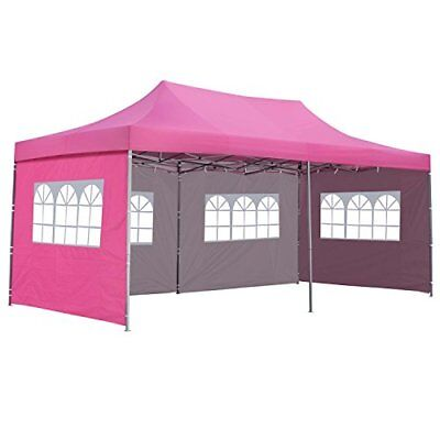 Outdoor Basic 10x20 Ft Pop up Canopy Party Wedding Gazebo Tent Shelter with Side