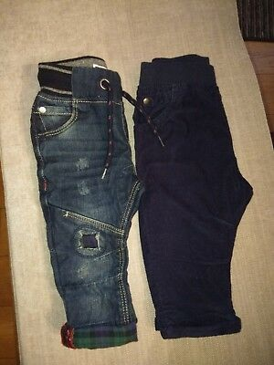 Baby boy Next Jeans And Tu Micro Cords Age 6-9 Months