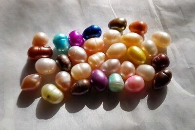 31 Loose Fresh Water Cultured Pearls Multi Coloured