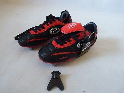 Optimum Blaze Junior Rugby Boots Black/Red size 2