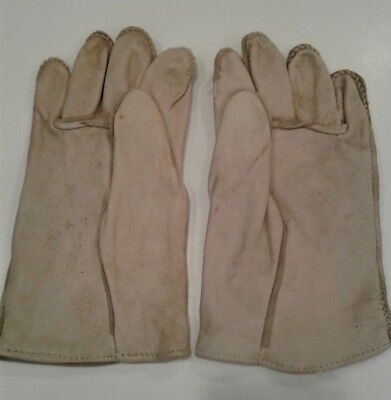 WW II US Army Leather Glove-shells size 4 (Large) New Old Stock