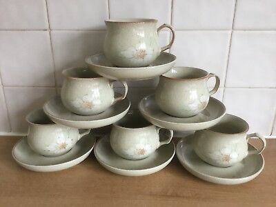 6 x Denby Daybreak Cups and Saucers