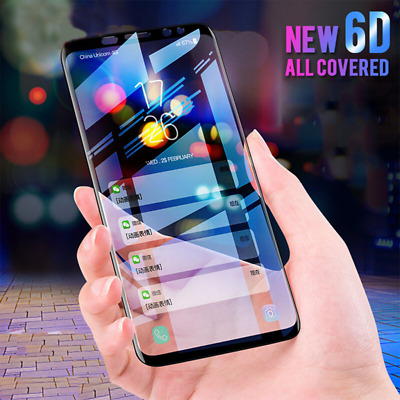 Tempered Glass Full Screen Protector 6D Black For Samsung Galaxy S9 S8 Plus S7