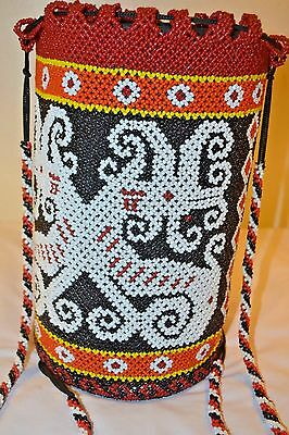 NewUnique Beads AJAT BASKET Weaving Traditional Dayak CAMPING SLING BAG BACKPACK