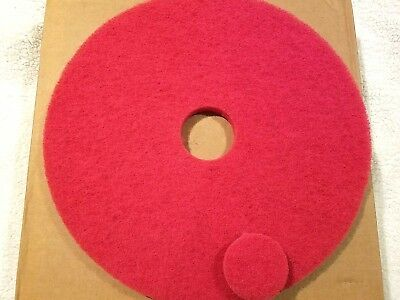 Glit Microtron Red Buffing Floor Maintenance Pads 19 Inch 5 Pack NEW
