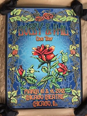 Bobby & Phil Bob & Phil Duo Tour Chicago Poster Brand New Mike Dubois