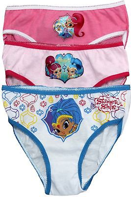 Shimmer and Shine Girls Three Pack Knickers Underwear Set