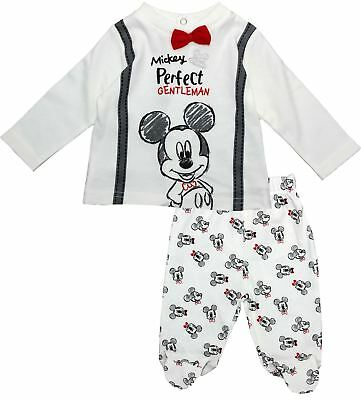 Mickey Mouse Baby Long Sleeve Cotton Pyjama Suit
