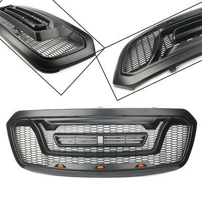 ABS Front Bumper Hood Grille Grill Rebel Style For Ram 1500 2013 2014 2015-2018