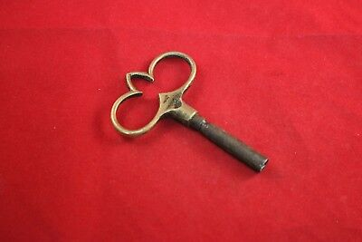 Antique German Lenzkirch Bracket Clock Key Spire & Heart Shaped Mantel Clock Key