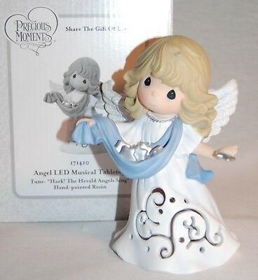 "Precious Moments 171410 "" Angel Led Musical Tabletop "" 2016 Mint In Box ;"
