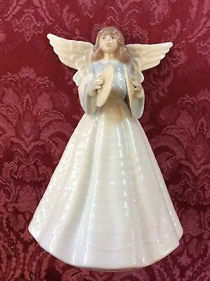 lladro figurine Christmas Angel With Cymbals Angel Navidad Con Platillos 05876