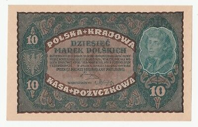 Poland, 10 Marek 1919 The banknote was not in circulation