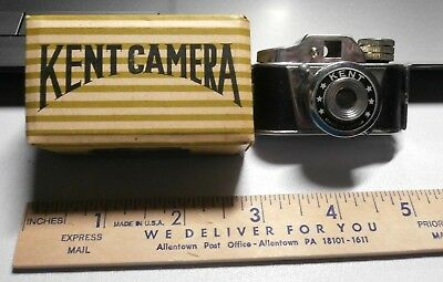 Vintage Kent Miniature Spy Camera Japan With Box And Instructions Prisitine Look