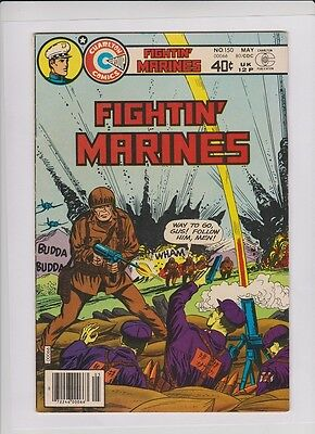 FIGHTIN' MARINES #150 VF-, Charlton war 1980, great cover and art, low cost copy