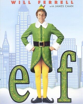 Elf 2003 PG Christmas comedy movie, new 2-disc DVD, Will Ferrell, James Caan, ..