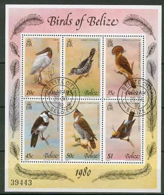 Belize souvenir sheet o used birds Vögel Block en74