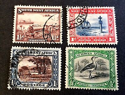 South West Africa SWA - 4 top old used stamps