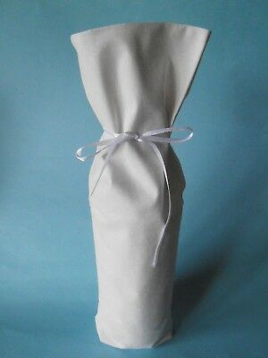 Wine Bottle Covers Great for Birthday/Engagement/Weddings Cream Fabric Bags