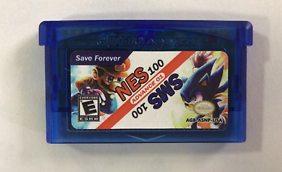 Multi-Cart 100 NES & 100 Sega MS games! No repeat! Gameboy Advance GBA! See List