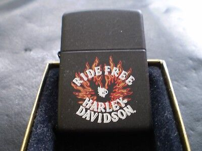 """Zippo / The Harley Davidson """" Ride Free """" Vintage From 05  / New In Box"""