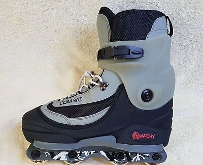 Anarchy Combat mens Roller Skate Black/Grey UK 11 EU 45
