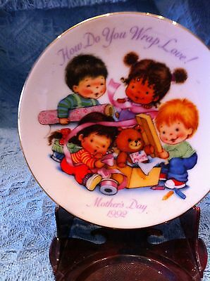 """Nos Avon 1992 Porcelain Mother's Day Plate Collection """"how Do You Wrap Love!"""""""