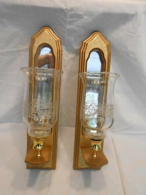 Pair of Gold Mirrored Sconces with Votives by Home Interiors