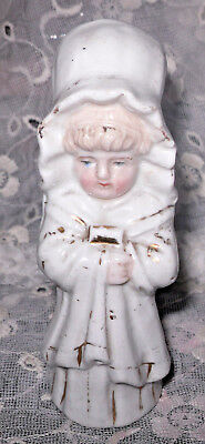 VTG Antique Kate Greenaway Victorian Girl Porcelain Figurine Salt/Pepper Shaker