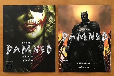 BATMAN DAMNED # 2 2018 Bermejo Main + Jim Lee Variant Set 1st Prints  DC NM+
