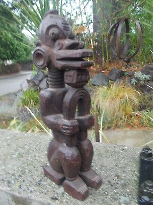 Vintage,  Congo,wood Carving,male  Effigy,exquisite Detail