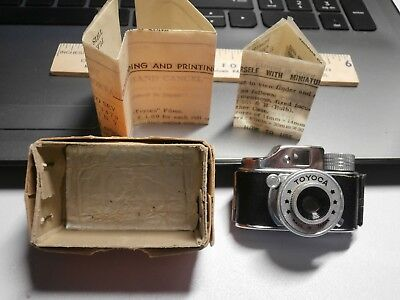 Vintage Click Miniature Spy Camera Japan With Box Instructions Prisitine Look!